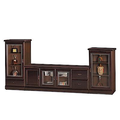 品家居 瑪夏9.3尺電視櫃組合(長櫃+展示櫃)-278x45x120cm免組