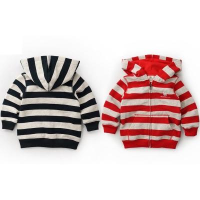 GL法國 優質萌系童趣條紋長袖連帽外套