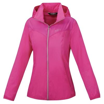 【ATUNAS 歐都納】女款防曬透氣輕薄外套 A-G1607W 桃紅