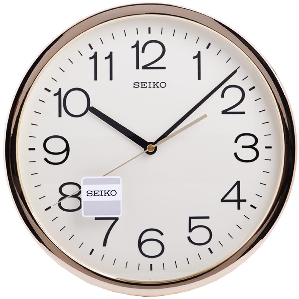 SEIKO 金色光感外框 時鐘 掛鐘(QXA020A)-36.1cm