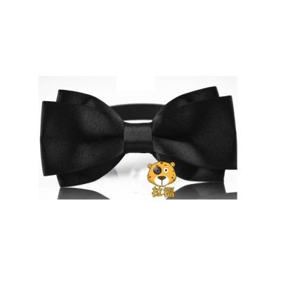 拉福,大小翼精工特別款領結新郎結婚領結糾糾 (黑色)