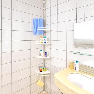 家可 頂天立地升級不鏽鋼衛浴架/收納盤