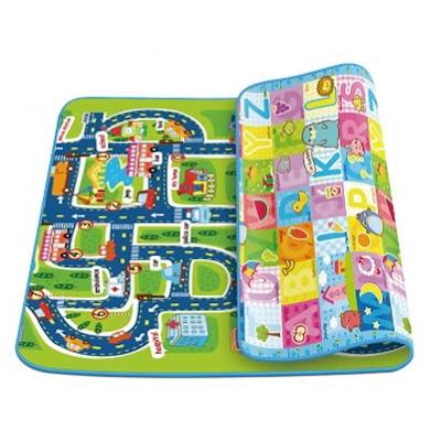 蔓葆嬰兒爬行墊 城市交通+歡樂字母0.5cm雙面圖樣攜帶型