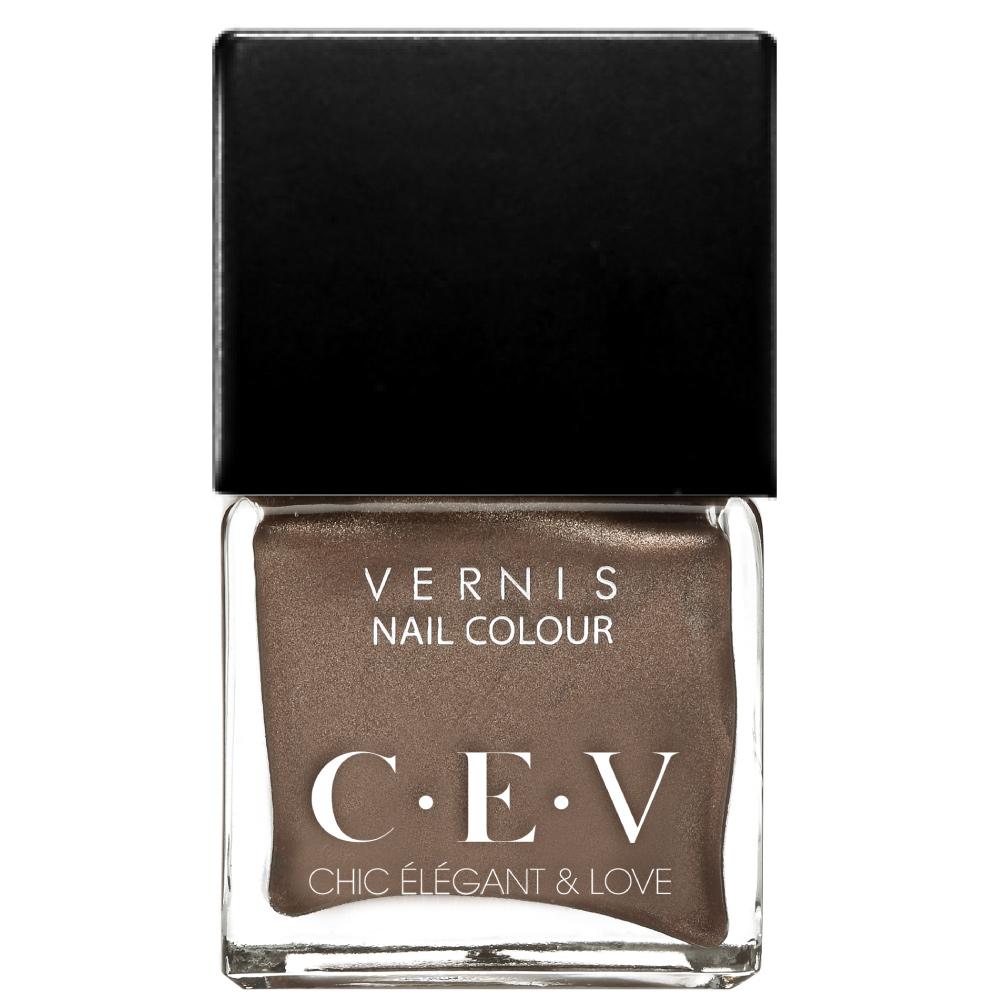 CEV輕奢指甲油 LC02 焦糖瑪奇朵 15mL黑蓋