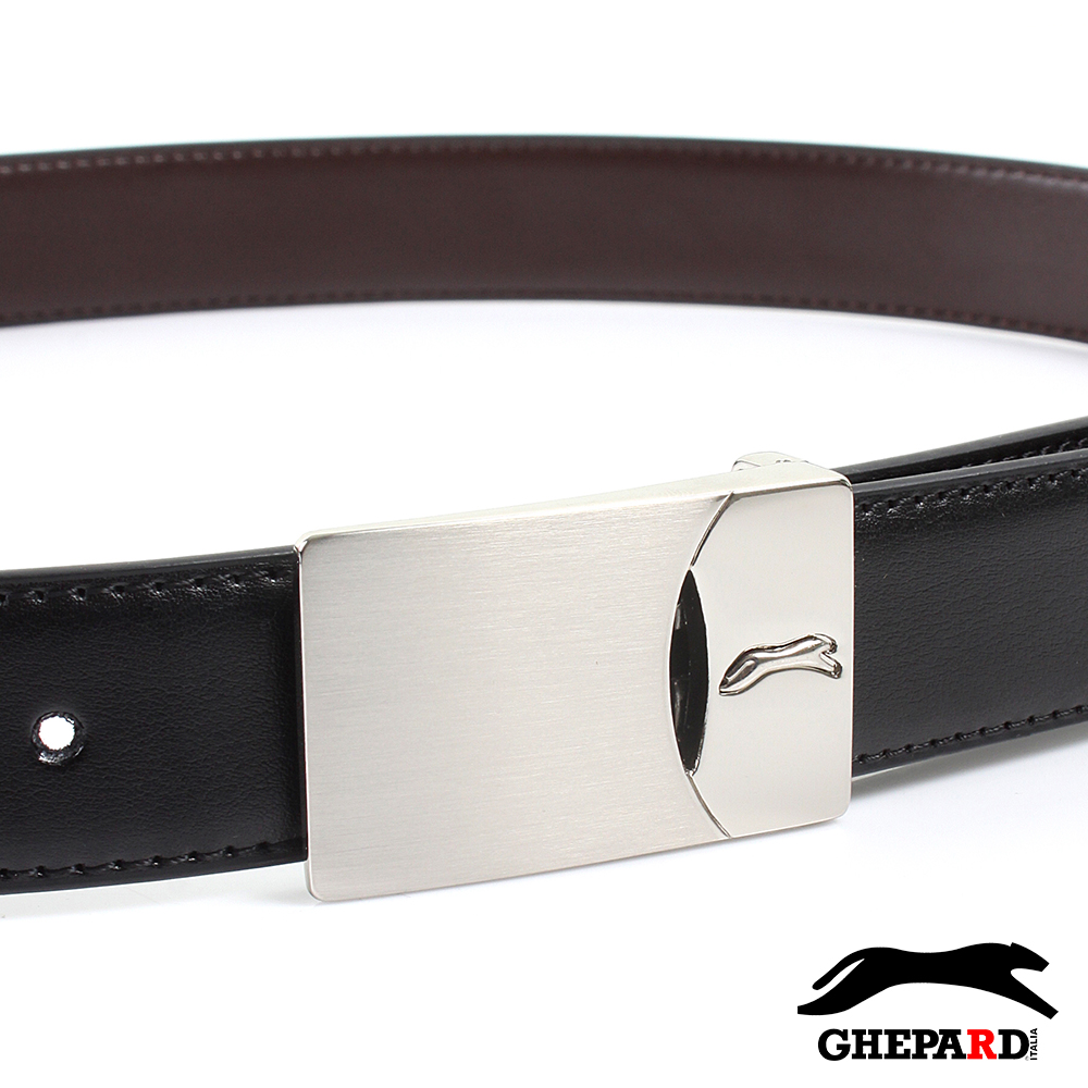 GHEPARD捷豹-戴蒙德系列-二層牛皮針扣皮帶