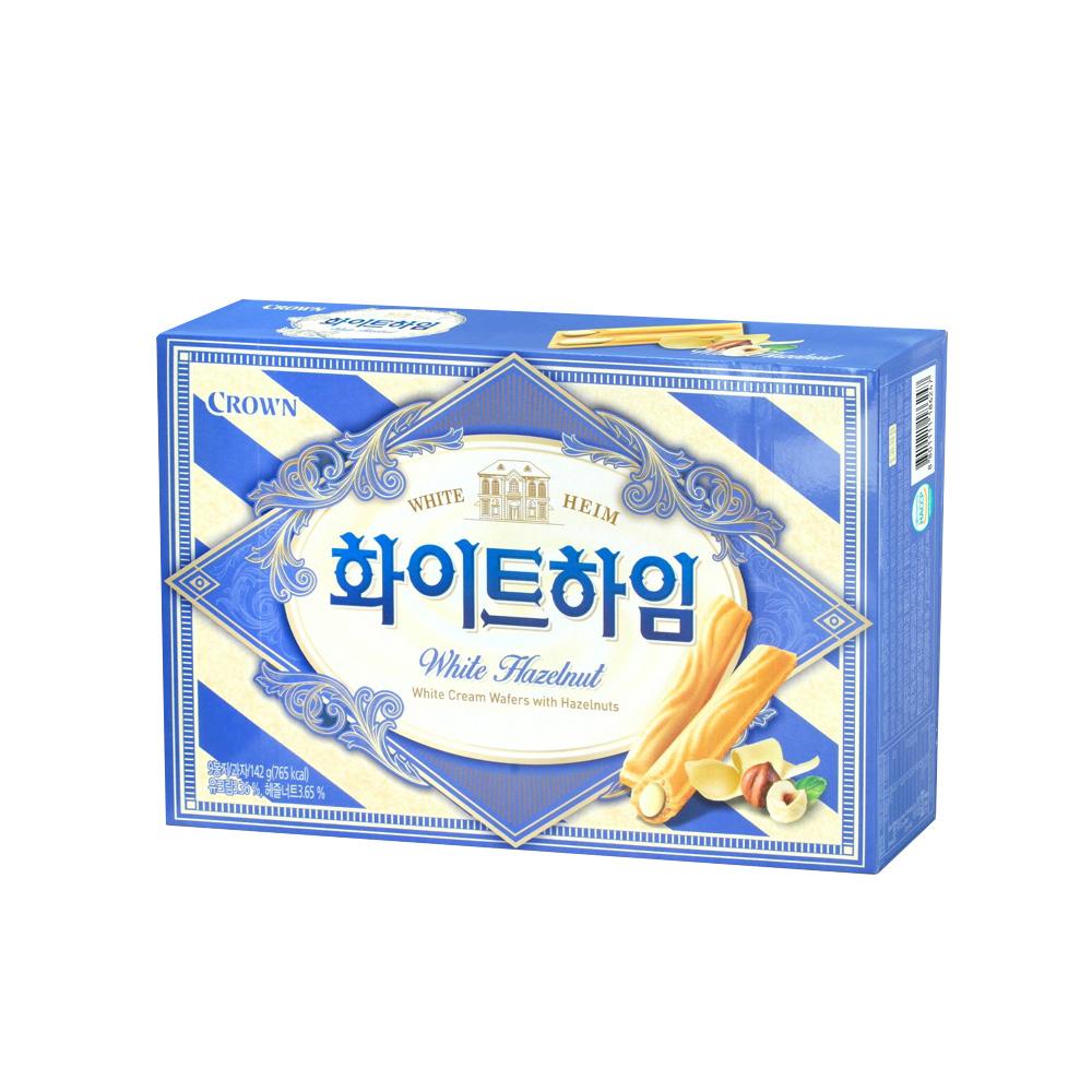 韓國Crown 奶油榛果醬威化條(142g)