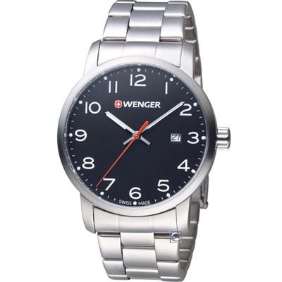 WENGER Avenue 城市時尚腕錶(01.1641.102)黑/42mm