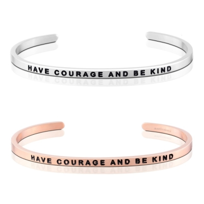 MANTRABAND Have Courage and Be Kind 勇敢良善銀X玫瑰金