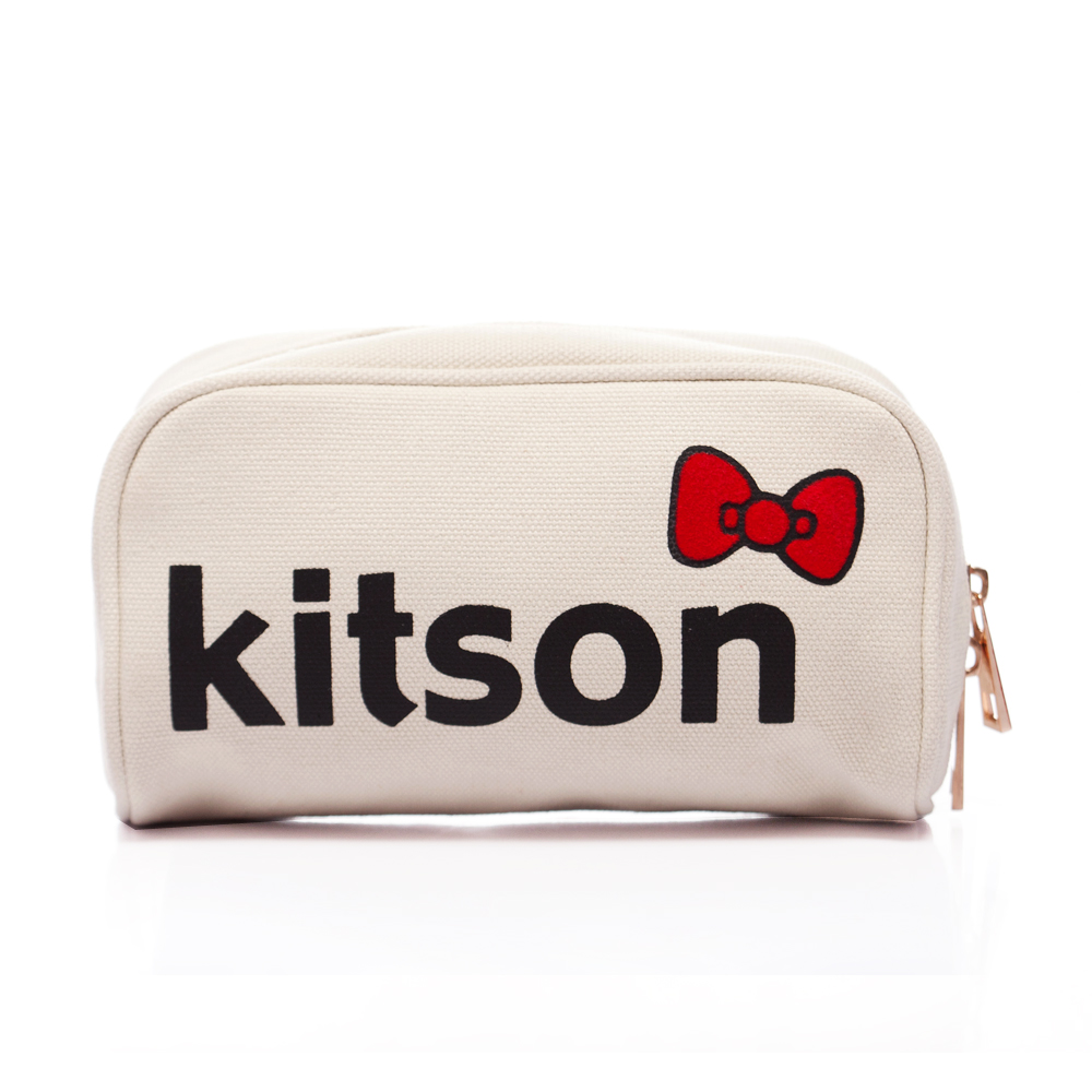 kitson x Ribbon Hello Kitty Pouch (米白)