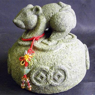 開運陶源  石塑造十二生肖【鼠】青斗石*限量888