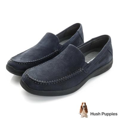 Hush Puppies Bounce 超彈力舒適紳士便鞋-藍色