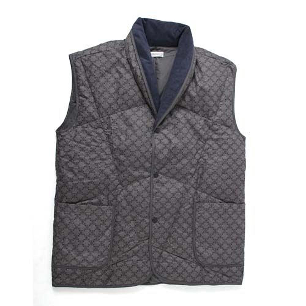 【CELINE】經典LOGO居家保暖羽絨背心/保暖衣/居家服/禦寒衣/外套(深灰藍)