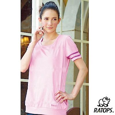 【瑞多仕-RATOPS】女 Coolmax 圓領長版衣_DB7886 桃粉/紫紅 V