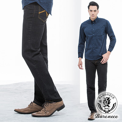 BARONECE-簡約俐落修身款休閒牛仔褲_深藍(111761-15)