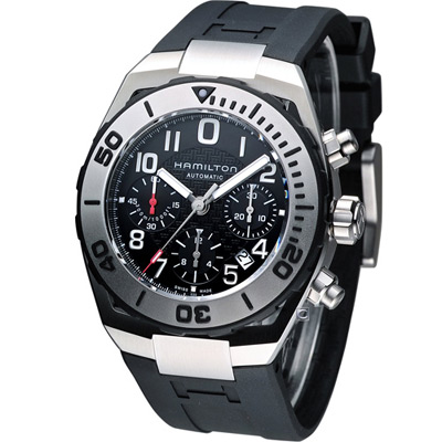 Hamilton Khaki  專業潛水運動腕錶-黑/43mm
