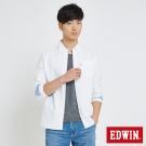 EDWIN 貼袋基本休閒襯衫-男-白色