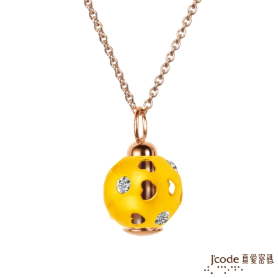 J code真愛密碼金飾 圓愛黃金墜子 送項鍊