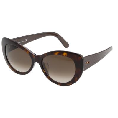 TOD'S 時尚小貓眼 太陽眼鏡 (琥珀色)TO143F