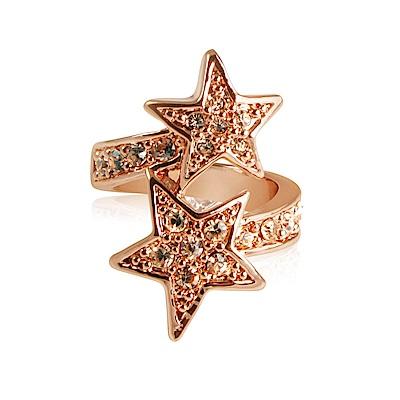 Wildfox Couture 美國品牌 STARS 甜美雙星戒指 鑲鑽玫瑰金戒指