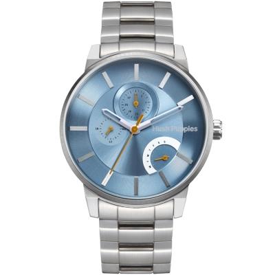 Hush Puppies  生活玩家三眼多功能腕錶--藍色45mm