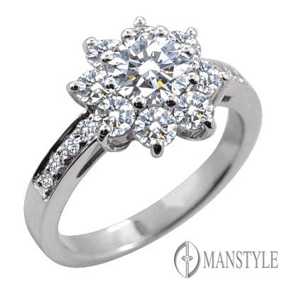 MANSTYLE DIAMOND「美麗有約」0.30ct  八心八箭鑽戒