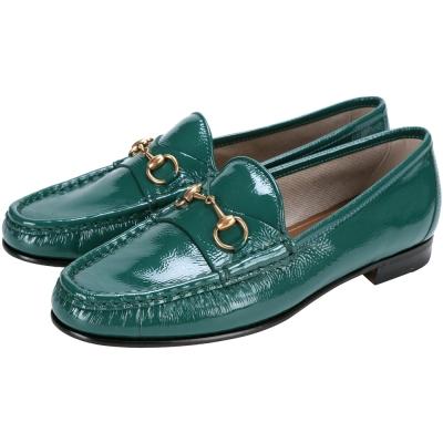 GUCCI 1953 Horsebit 經典馬銜漆皮樂福鞋(綠色)