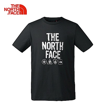 The North Face北面男款黑色柔軟舒適短袖T?