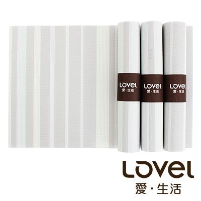 LOVEL 英倫手作風編織感餐墊-夜光瑩萊姆(4入組)