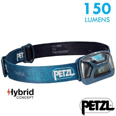 【法國 Petzl】新款 TIKKINA 超輕量戶外頭燈(150流明)_藍