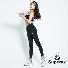 Superax  SW-170 假兩件運動彈性緊身褲 長褲 黑色 - 急速配