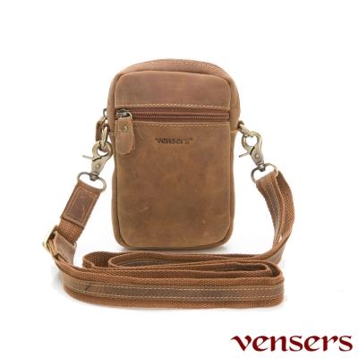 vensers小牛皮潮流個性包~腰包~(ND301701瘋馬皮)