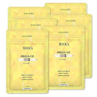 BHK's 輔酶Q10+C錠 (30顆/包)6包組