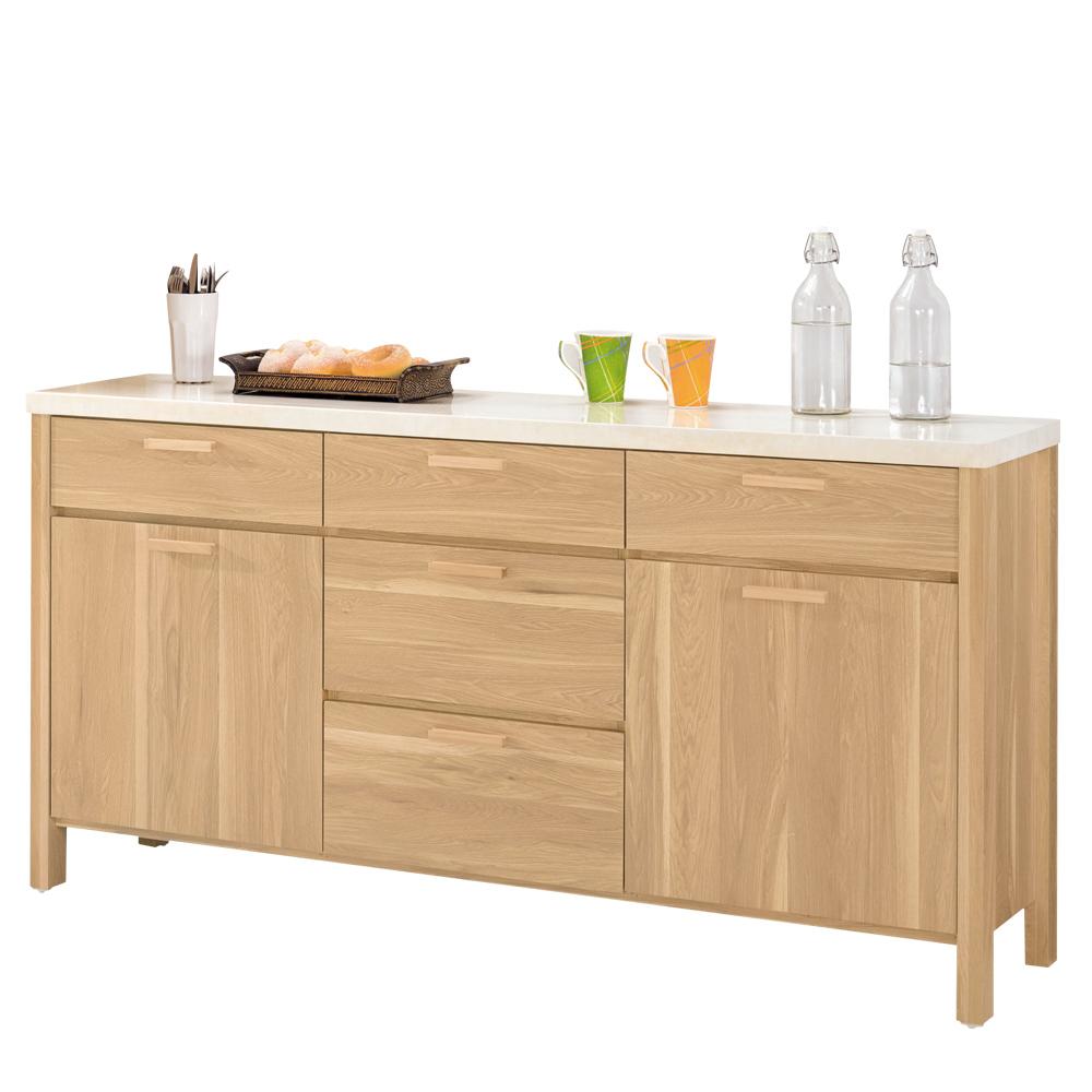 Bernice-波爾斯5.2尺石面收納餐櫃-157x41x82cm