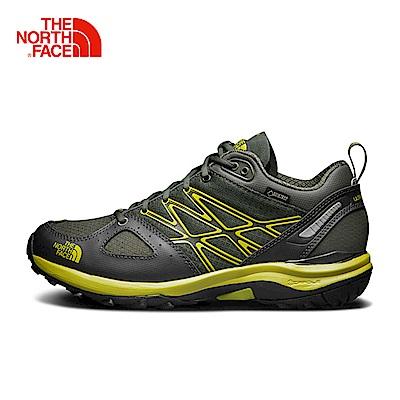 The North Face北面男款綠色防水登山徒步鞋
