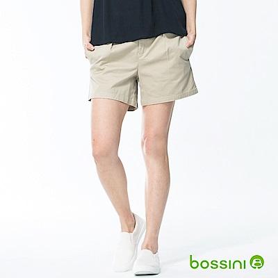 bossini女裝-素色卡其短褲01淺卡其