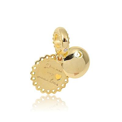 Pandora 潘朵拉 你是我的陽光 鍍18K金垂墜純銀墜飾 串珠