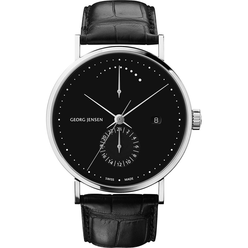 GEORG JENSEN KOPPEL 古柏動力儲存機械錶-黑/41mm