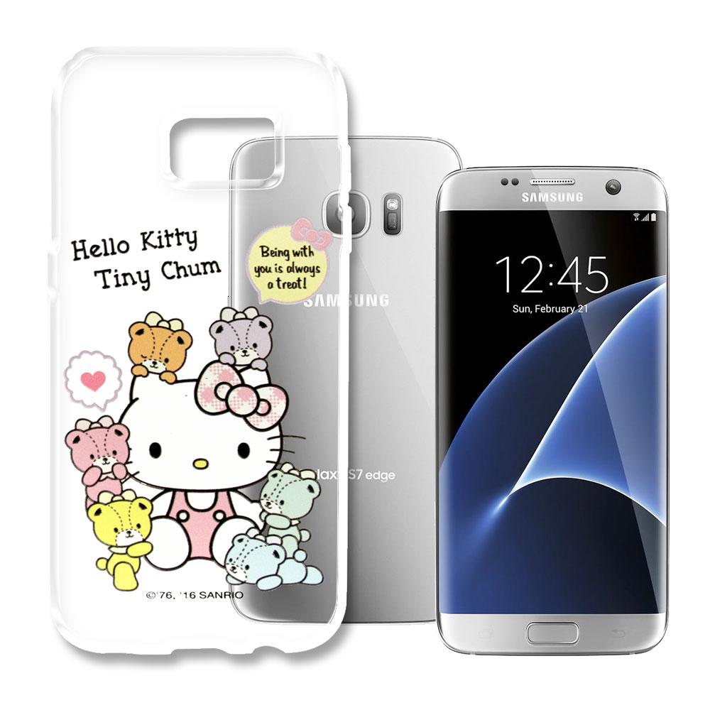Hello Kitty三星Galaxy S7 Edge浮雕彩繪透明軟殼熊好朋友