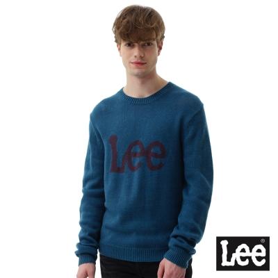 Lee LOGO毛衣-男款-藍紫色