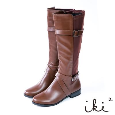 iki2率性酷甜個性時尚長靴-咖
