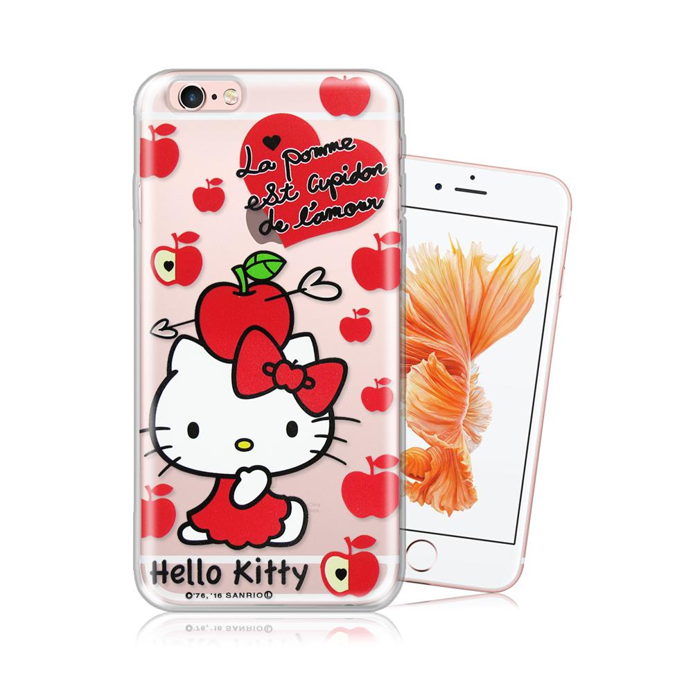 三麗鷗正版 凱蒂貓 iPhone 6/6s 4.7吋 透明軟式保護殼 (蘋果)