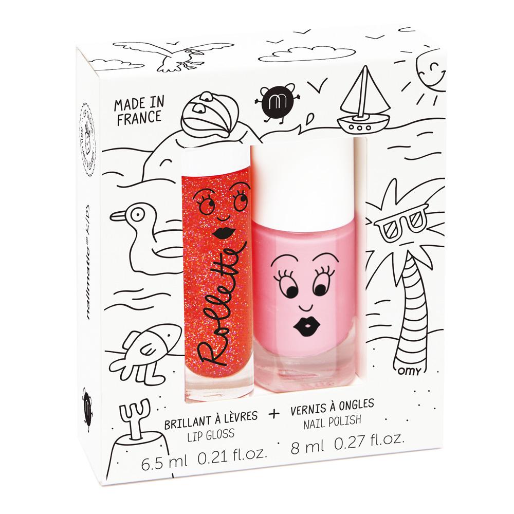 Nailmatic Kids 法國兒童唇彩指甲油組 - 歡樂假期 @ Y!購物