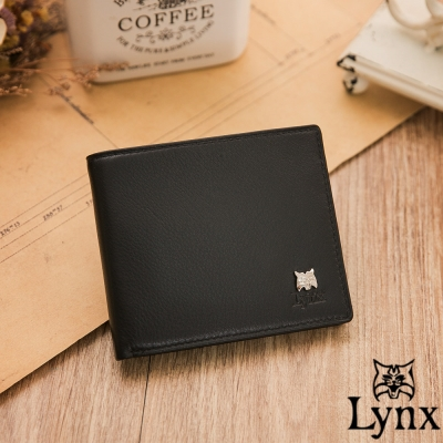 Lynx-山貓極品爵士軟式牛皮9卡1照短夾