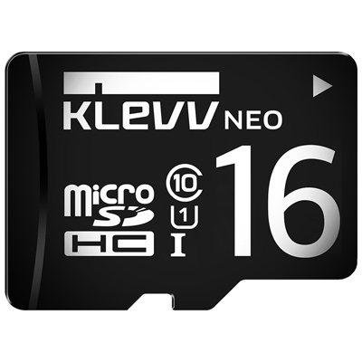 KLEVV 科賦 Micro SDHC UHS-1 16GB 記憶卡(附轉卡)