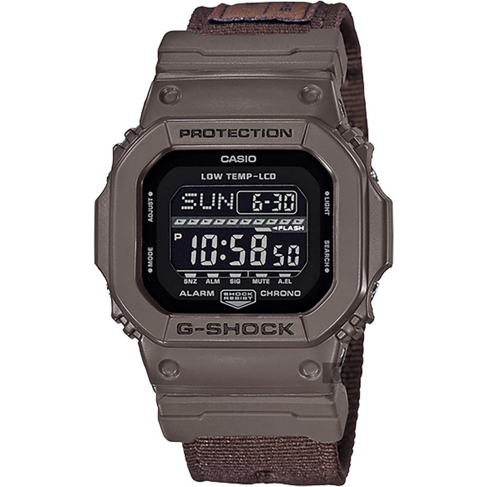 CASIO卡西歐G-SHOCK軍事風飛行夾克手錶-GLS-5600CL-5DR
