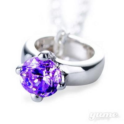 【YUME】BABY RING誕生石項鍊─2月