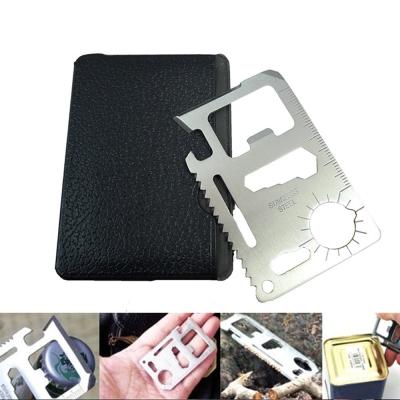 Kiret 不鏽鋼多功能工具卡 鑰匙圈 開罐器 螺絲起子(超值2入)