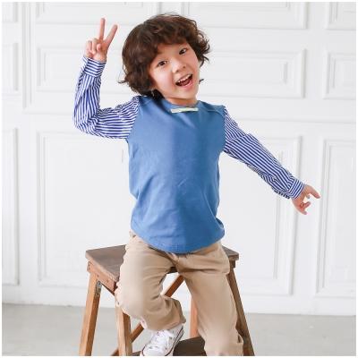 baby童衣 長袖T恤 領結拼接袖上衣 50537