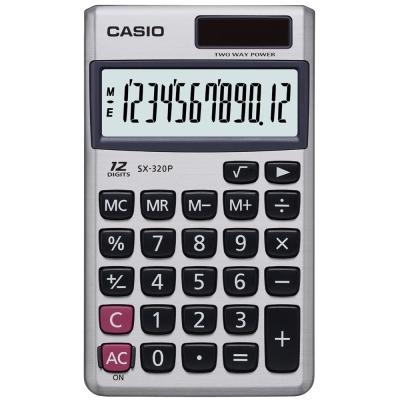 CASIO 卡西歐 (國家考試專用) 12位數攜帶口袋型計算機SX-320P