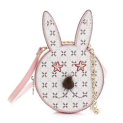 PLAYBOY- 造型斜背小包 夢幻兔 Dream系列-甜美粉